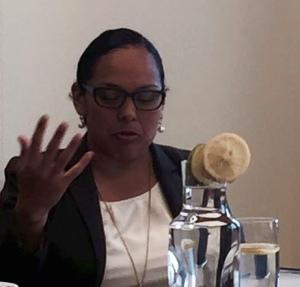 Prof. Flores defends her dissertation