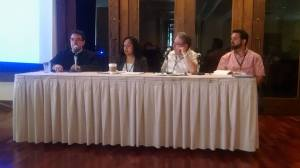 Image of panel on immigration and suffering at meeting of Hispanic theologians
